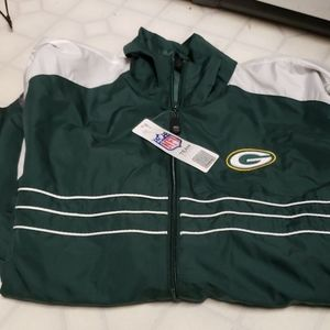 Nwt Mens Green Bay Packers zip up